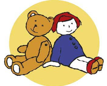 Vereinigte Teddy-Bären und Spielzeugfreunde